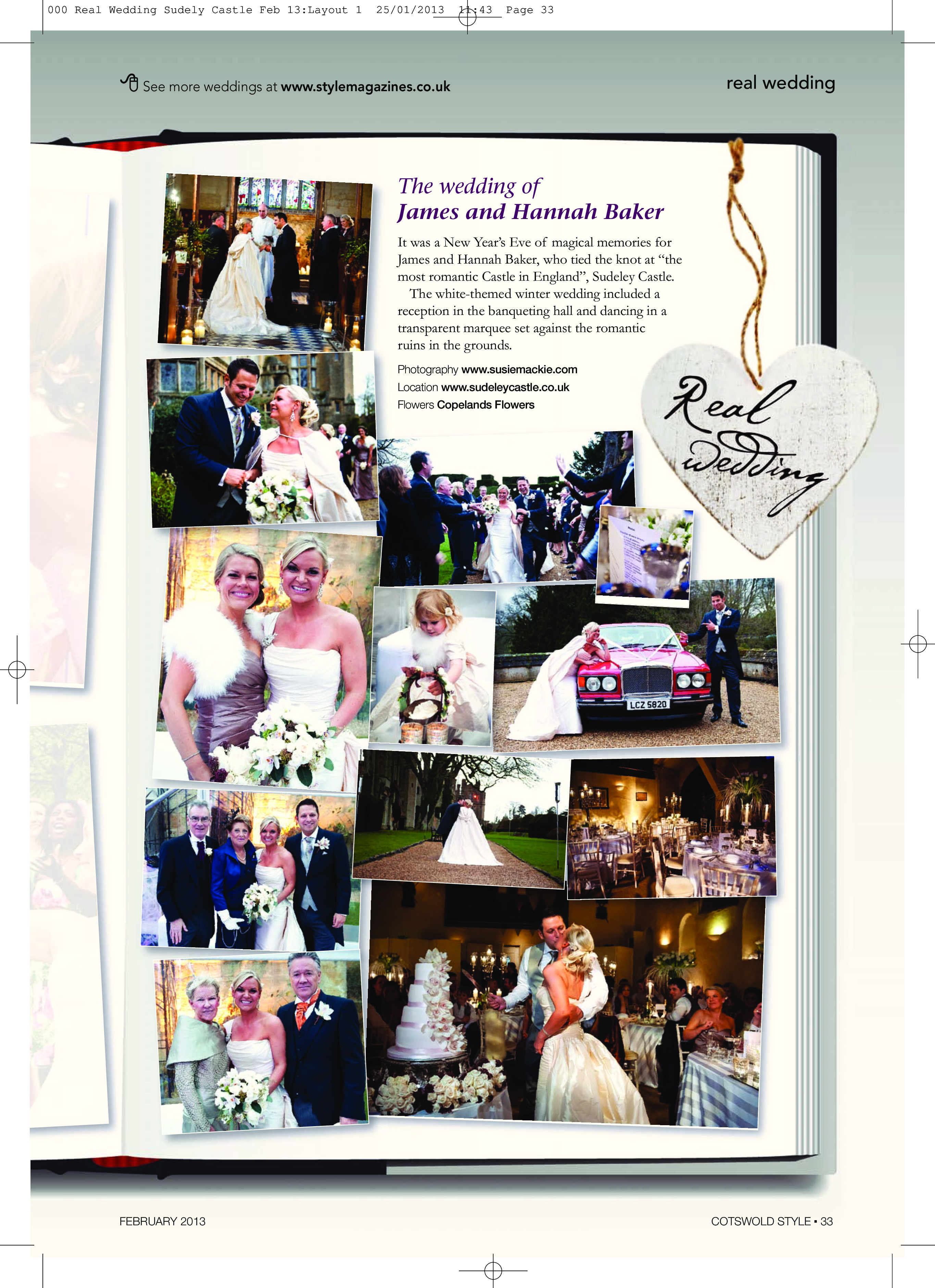 Page from Real Weddings magazine