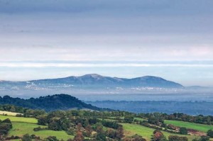 Sue Kelso Ryan offers copywriting services in Cheltenham. This is a photo of the surrounding countryside - looking to the Malvern Hills