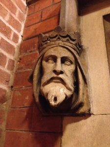 Stanbrook abbey carved head